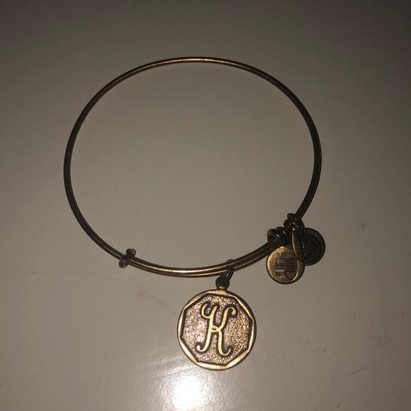 Alex and Ani Jewelry - K initial gold Alex and Ani adjustable bracelet